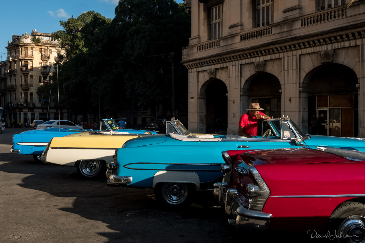 Classic Cars in Afternoon Light, Havana