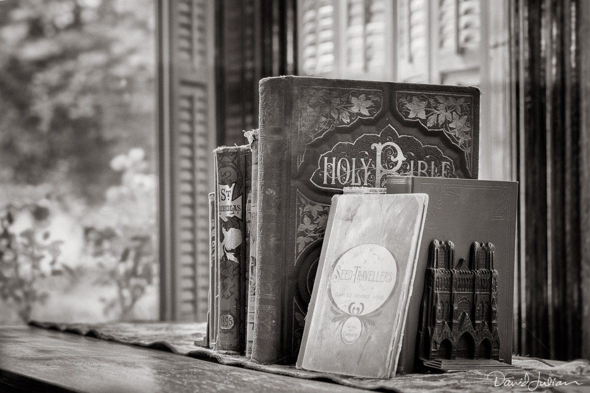Old Bible and books